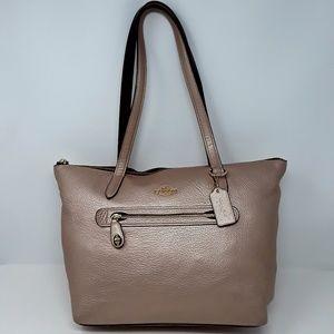 COACH Sparkling Rose Gold Tote Handbag